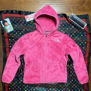 THE NORTH FACE HOODIE DEEP PILE NEON PINK